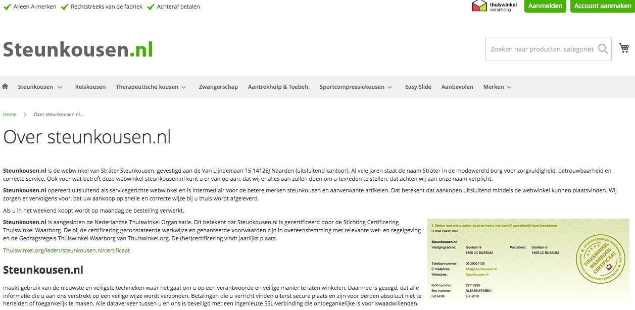 waarom steunkousen van steunkousen.nl