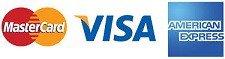 Mastercard, Visa & American Express